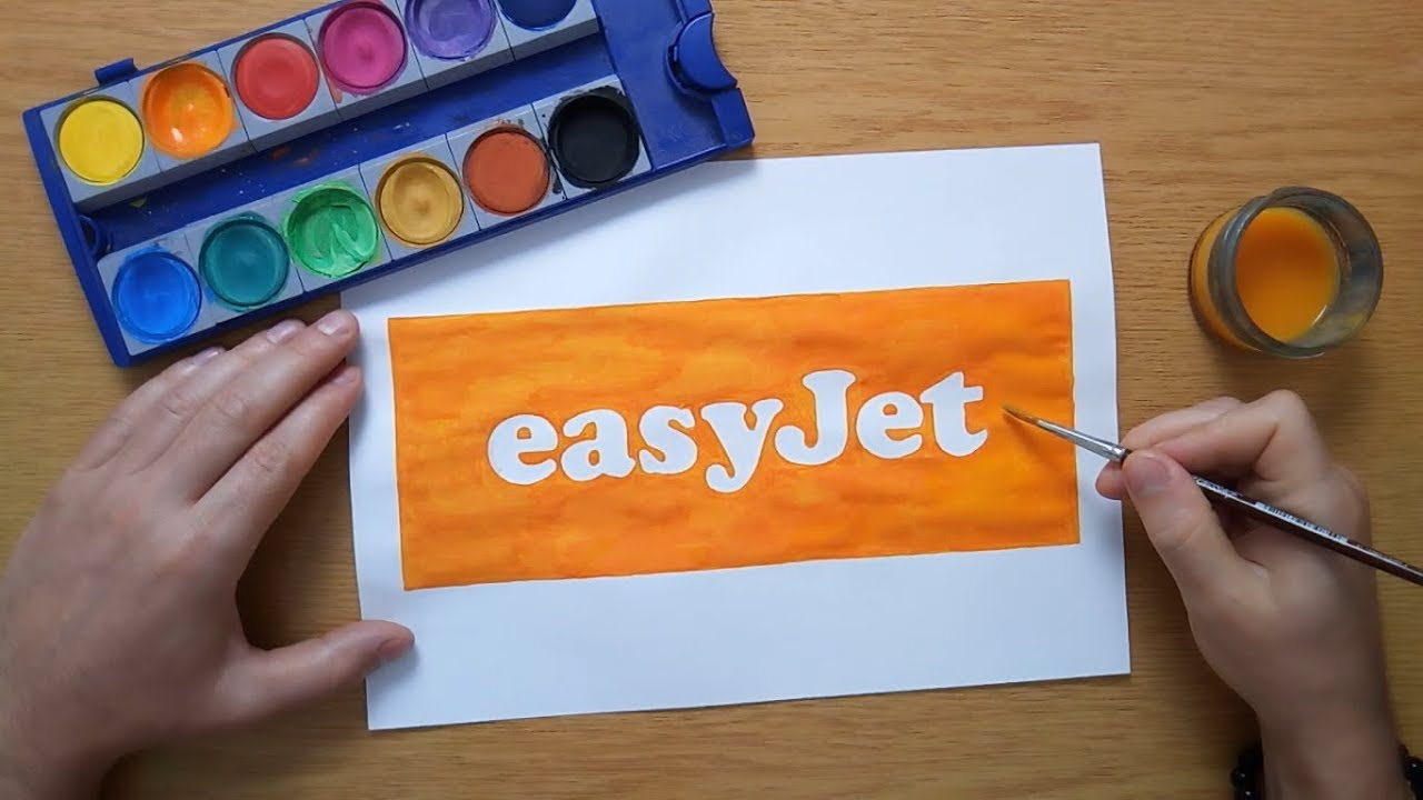 How to draw the easyJet logo.