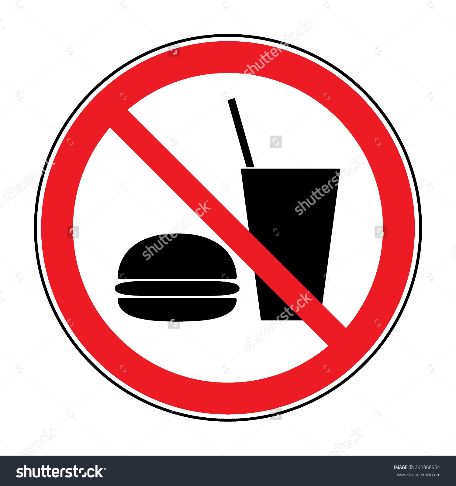 Do Not Eat Drink Icon No Stock Vector 292868954.
