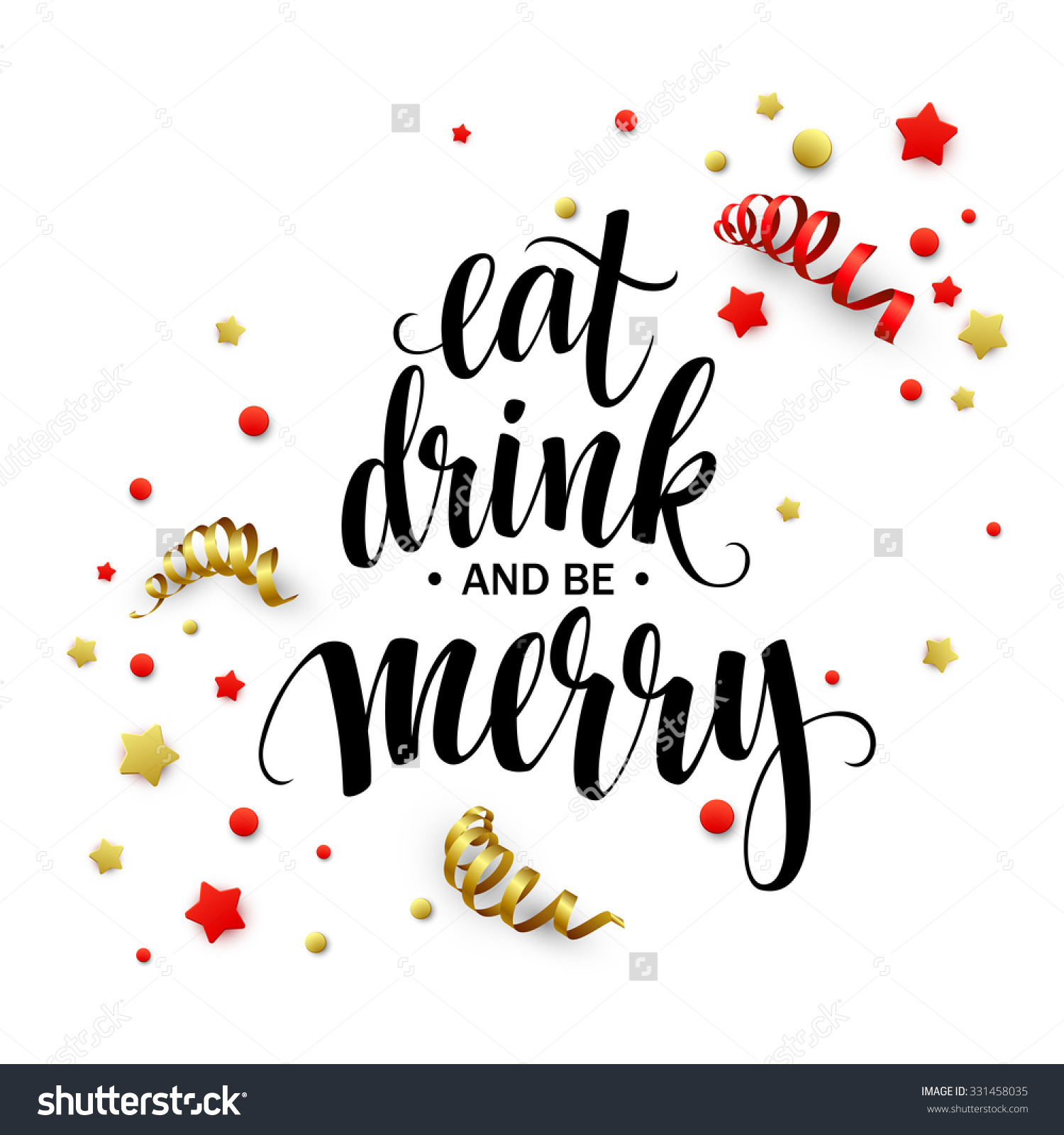 Eat Drink and Be Merry Clip Art.