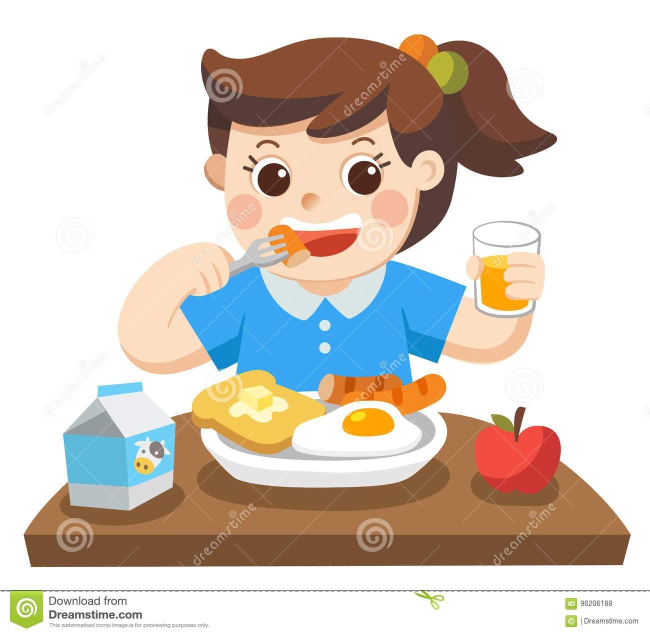 Eat breakfast clipart girl 3 » Clipart Portal.