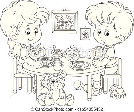 Eat Breakfast Clipart Black And White (95+ images in Collection) Page 3.