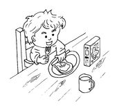 Eat Breakfast Clipart Black And White (95+ images in Collection) Page 1.