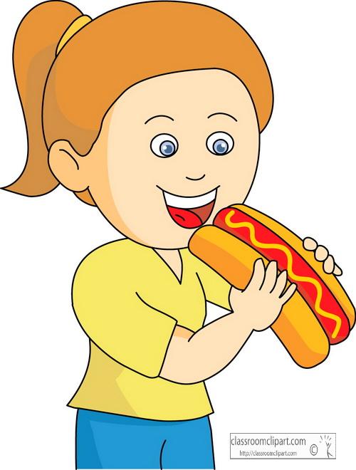 Girl Eating Clipart.