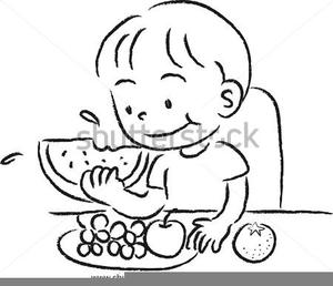 Children eating clipart black and white » Clipart Portal.