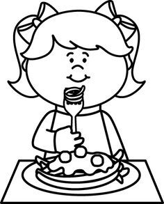 Eat clipart black and white 3 » Clipart Portal.