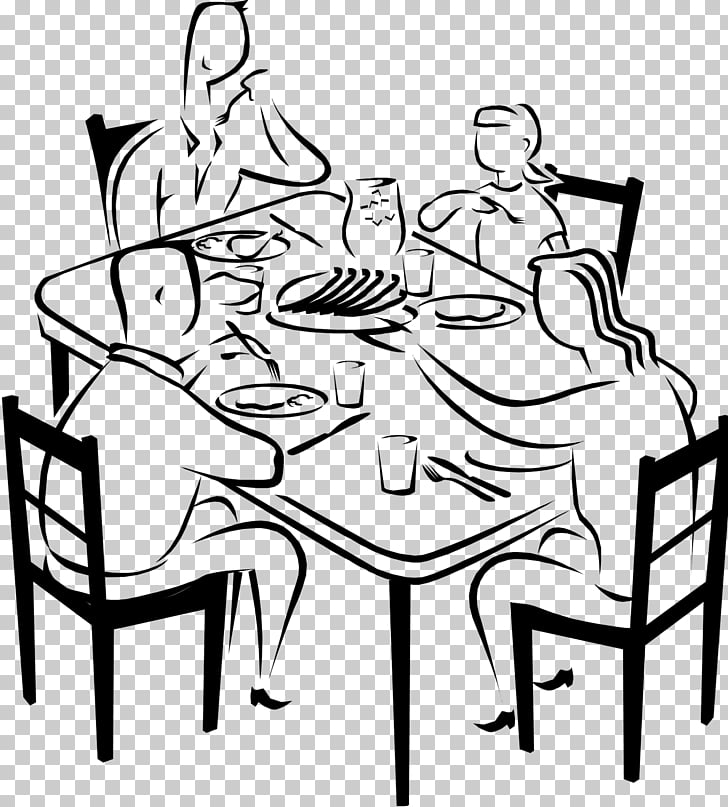 Eating Dinner Drawing Breakfast , dine together PNG clipart.
