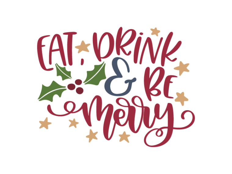 Free Eat, Drink and Be Merry SVG DXF PNG & JPEG.