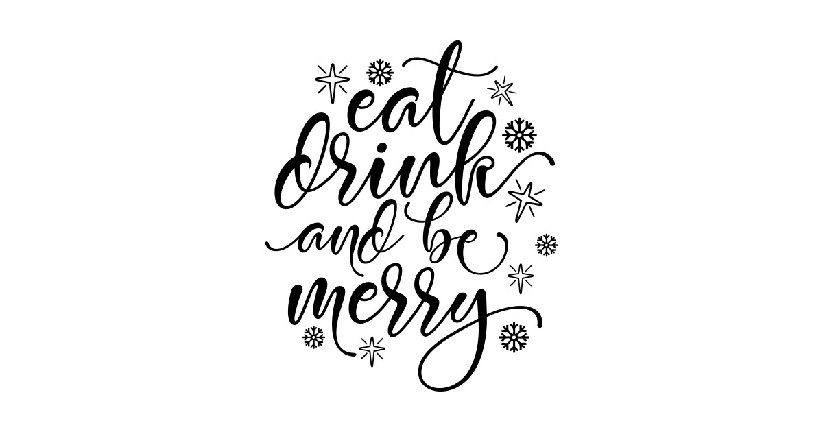 Eat Drink And Be Merry Christmas Gifts For Mom Dad by trendsettersunited.