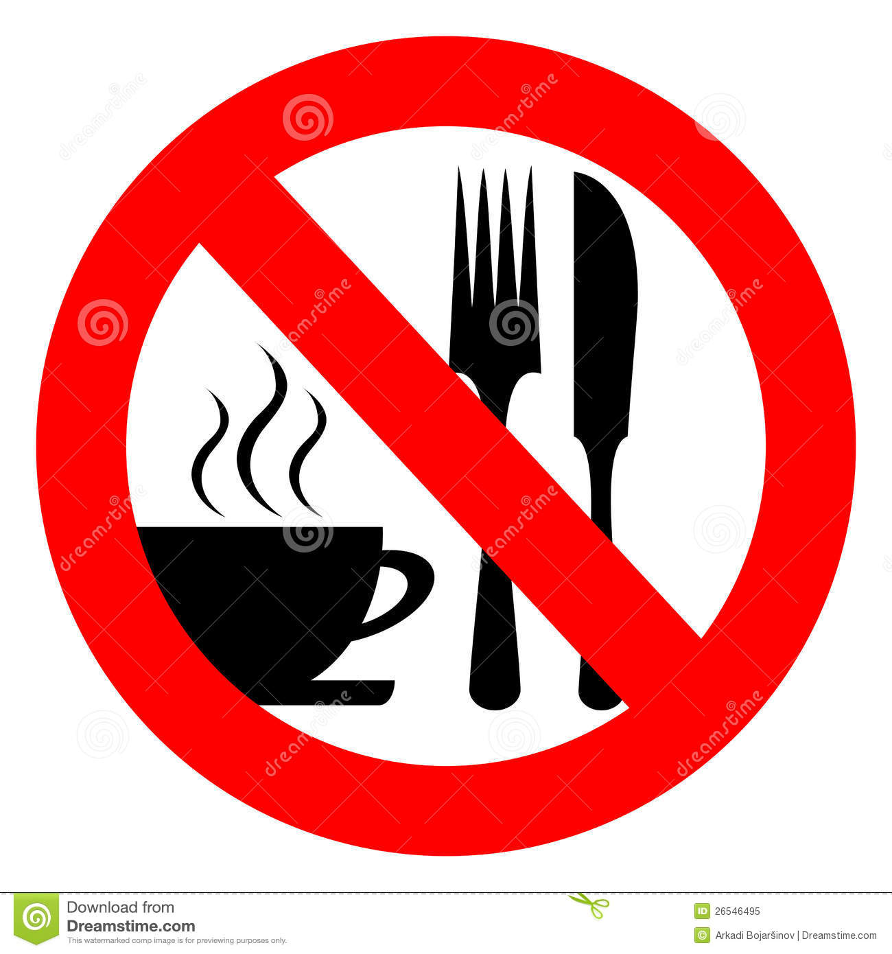 No Eat And Drink Royalty Free Stock Photo.