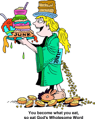 Eating junk food clipart.