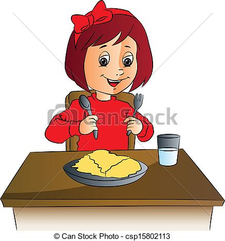 Girl clipart lunch food clipart.