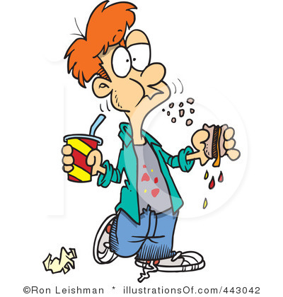 Clipart eating food.