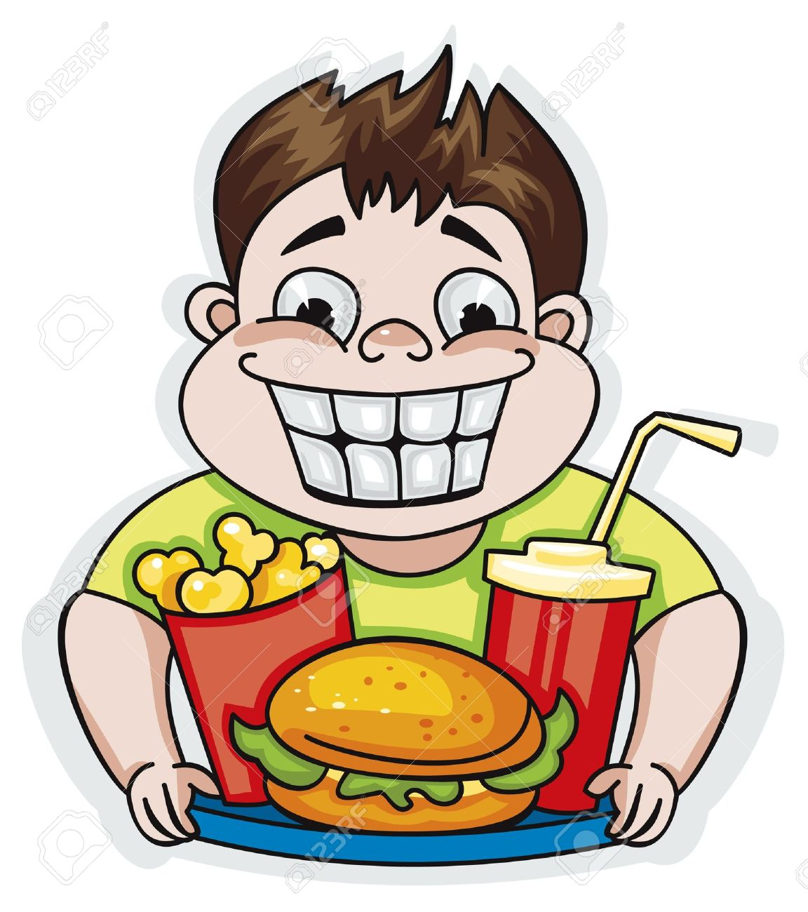 man eating burger clipart - Clipground