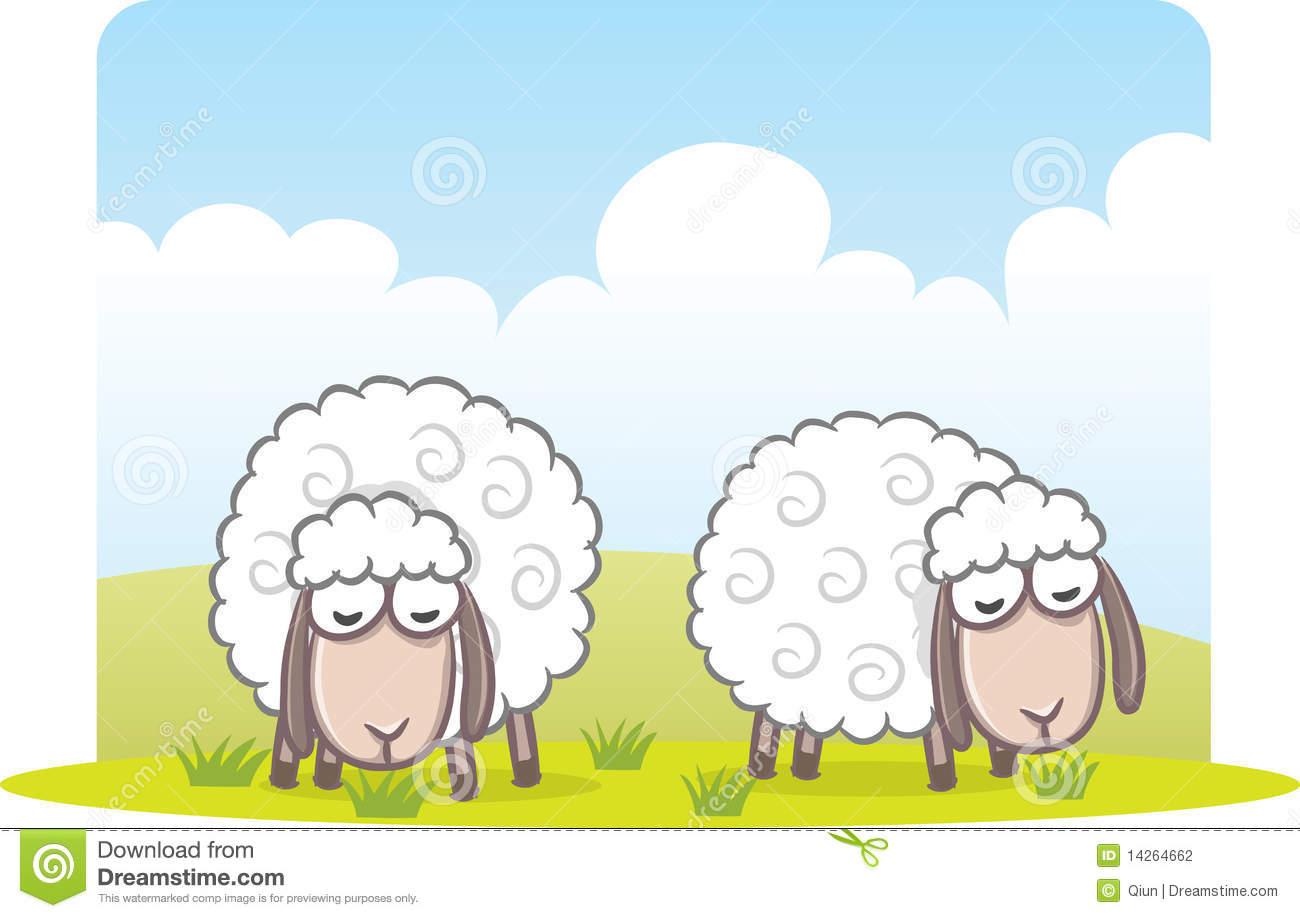 Free grass clipart sheep eating grass.