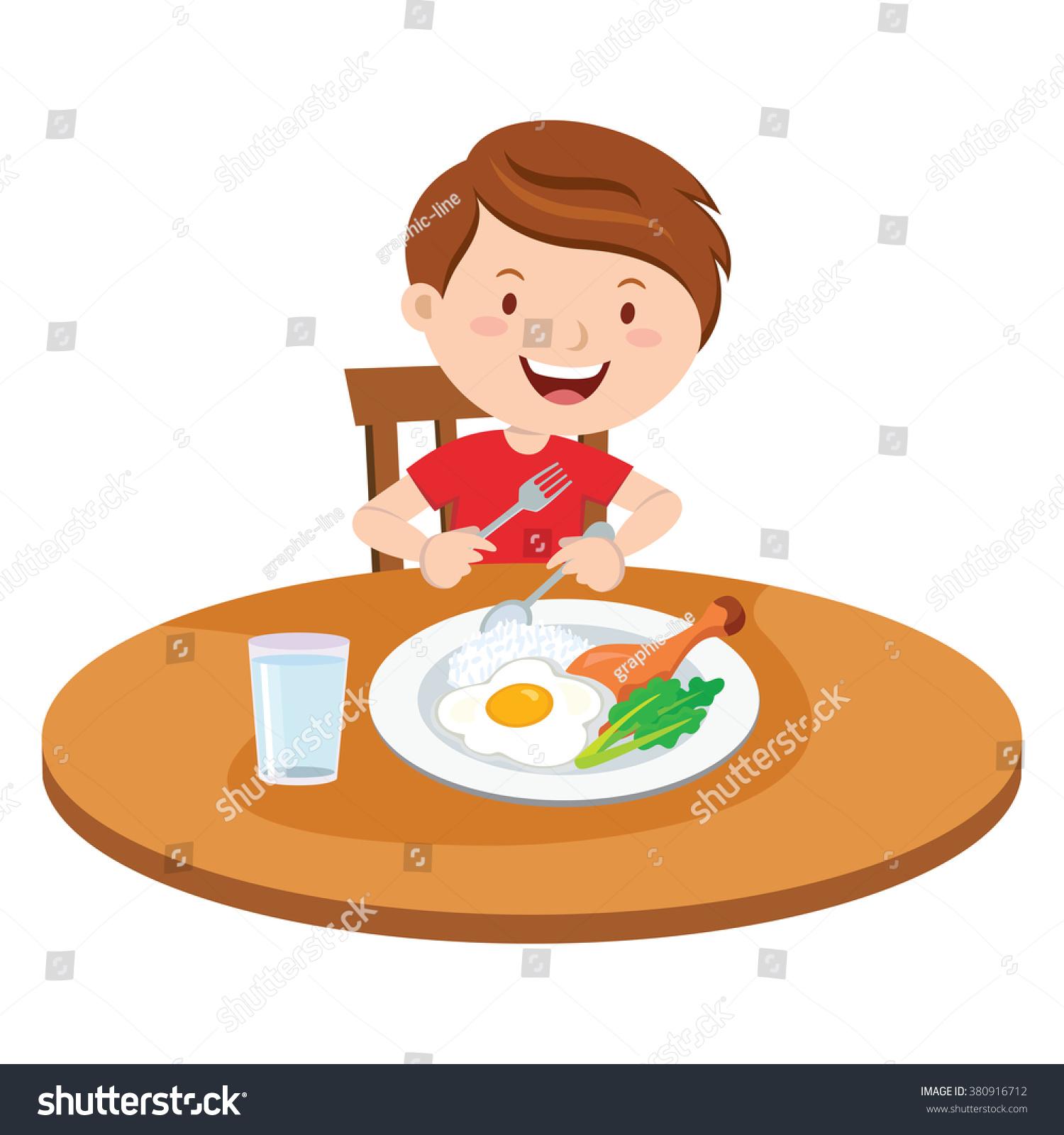 Eat Breakfast Clipart.