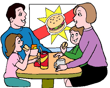 They Are Eating Clipart.