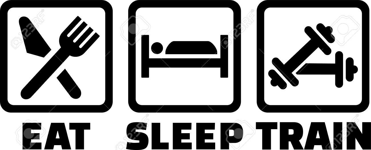 Eat Sleep Train Clipart.