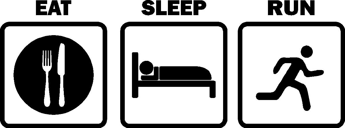 Eat Sleep Race Clipart.