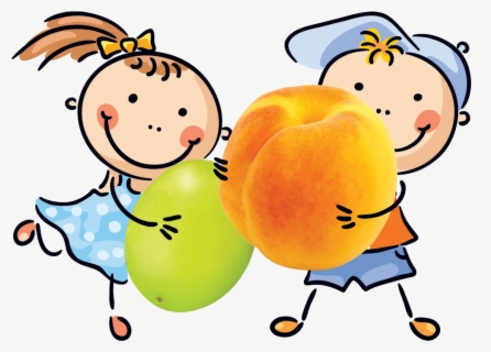 Free Kids Eating Snack Clip Art with No Background.