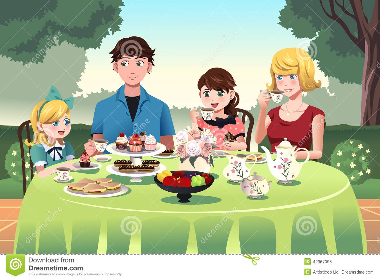 Showing Post Media For Cartoons Eating Together Family Eat Clipart