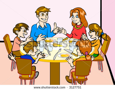 Family Eat Together Clipart.