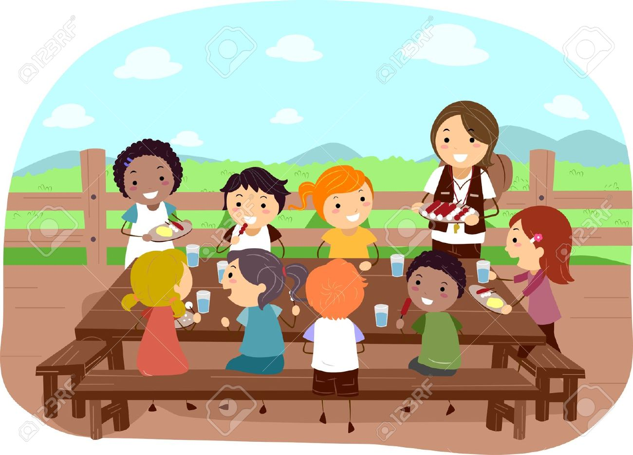 Eat Together Clipart.