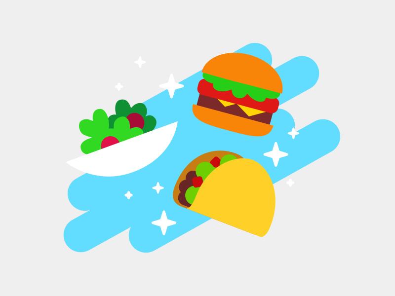 Eat24 Order History Illustration by Rehana Khan on Dribbble.