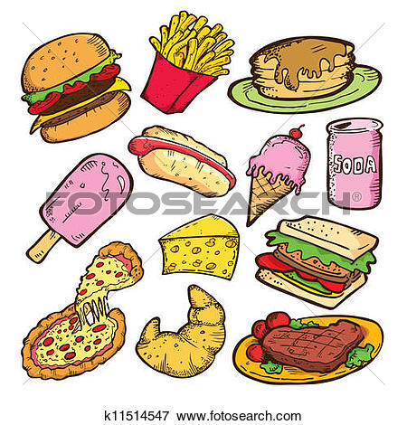 Clip Art of cute food stickers01 k10339876.