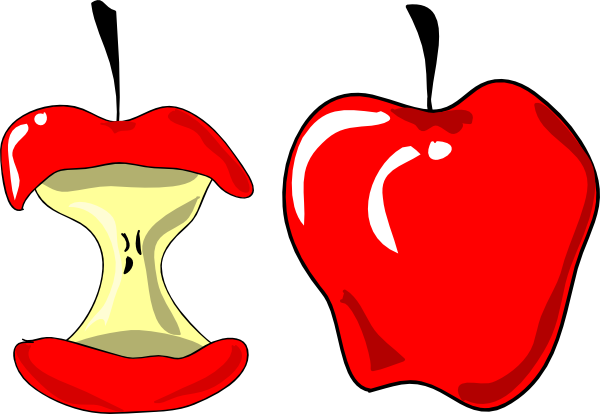 Apple Eating Clipart.