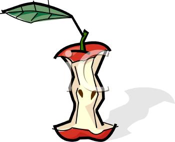 Eaten Apple Core.