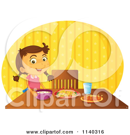 Eaten Food On The Table Clipart.