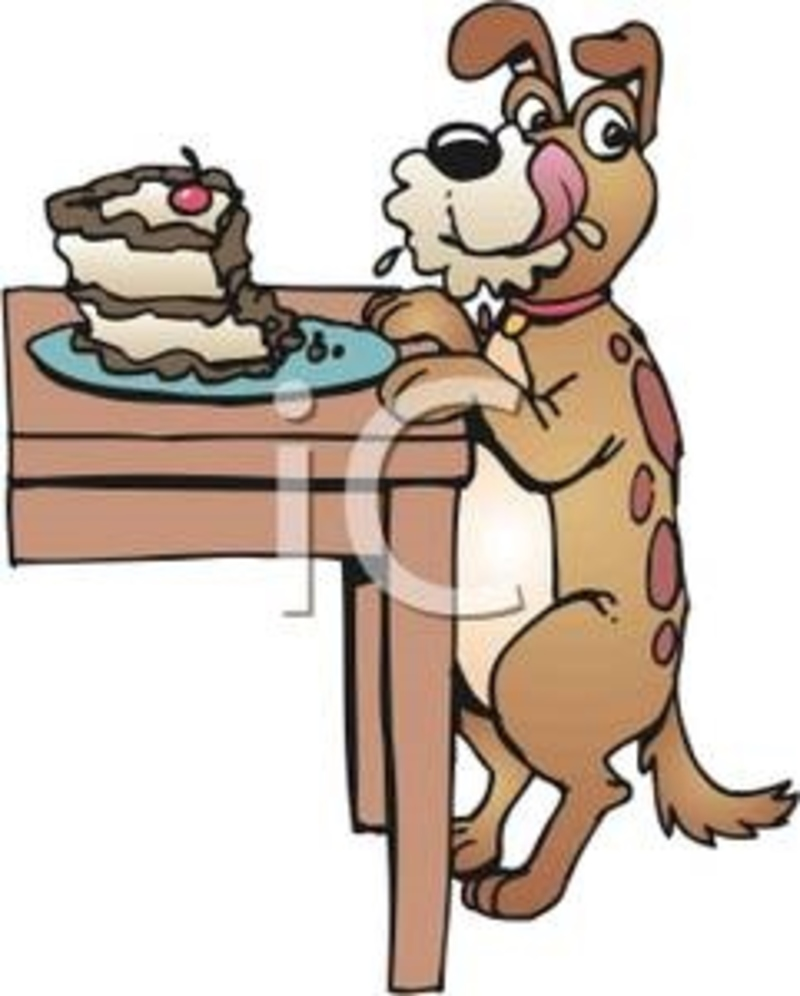 Dogs Eating Ice Cream Clipart
