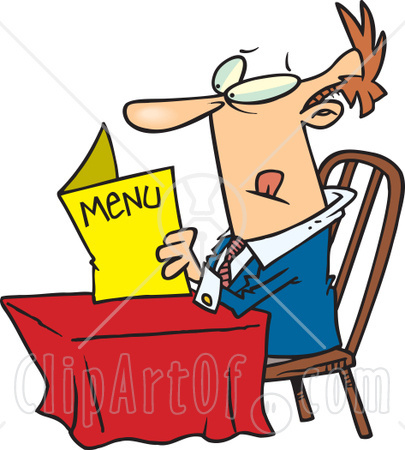 Clipart menu restaurant.