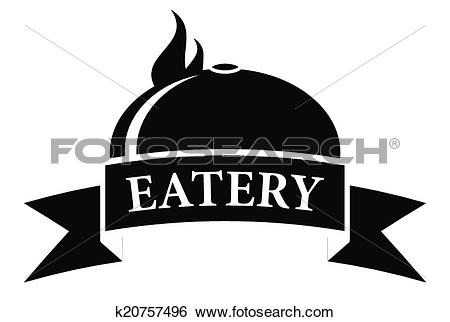 Clip Art of food eatery icon with hot dish k20757496.