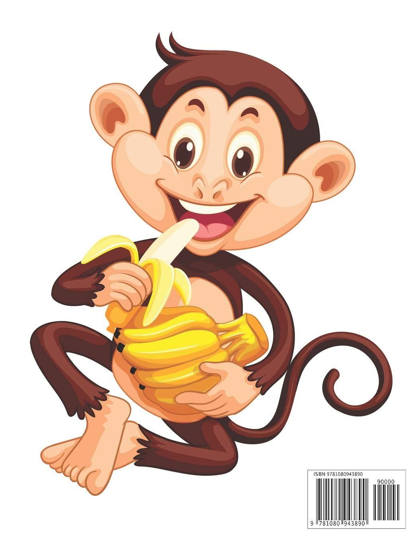 Happy Monkey Eating Bananas.