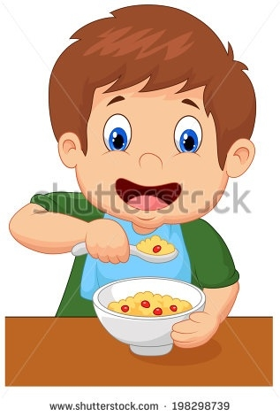 Eat Breakfast Clip Art Kids Clipart with regard to Boy Eating.