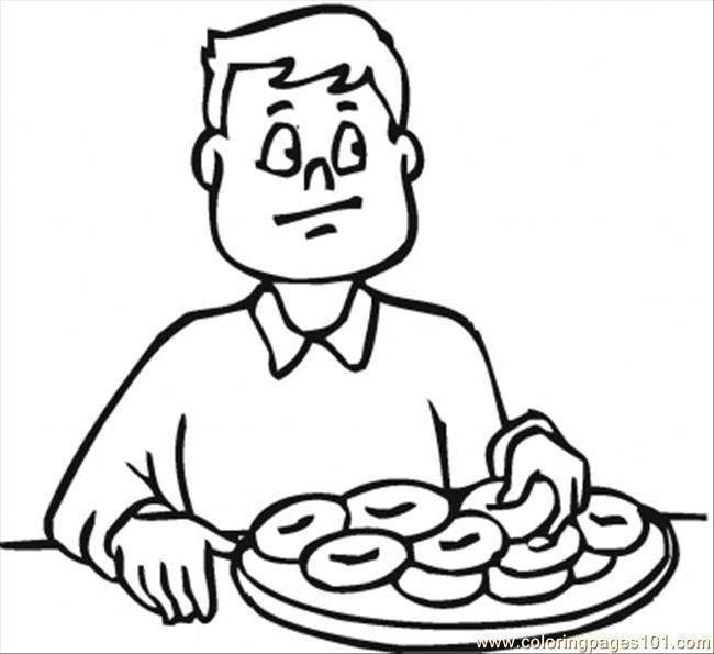 Similiar Eating Breakfast Coloring Page Keywords.