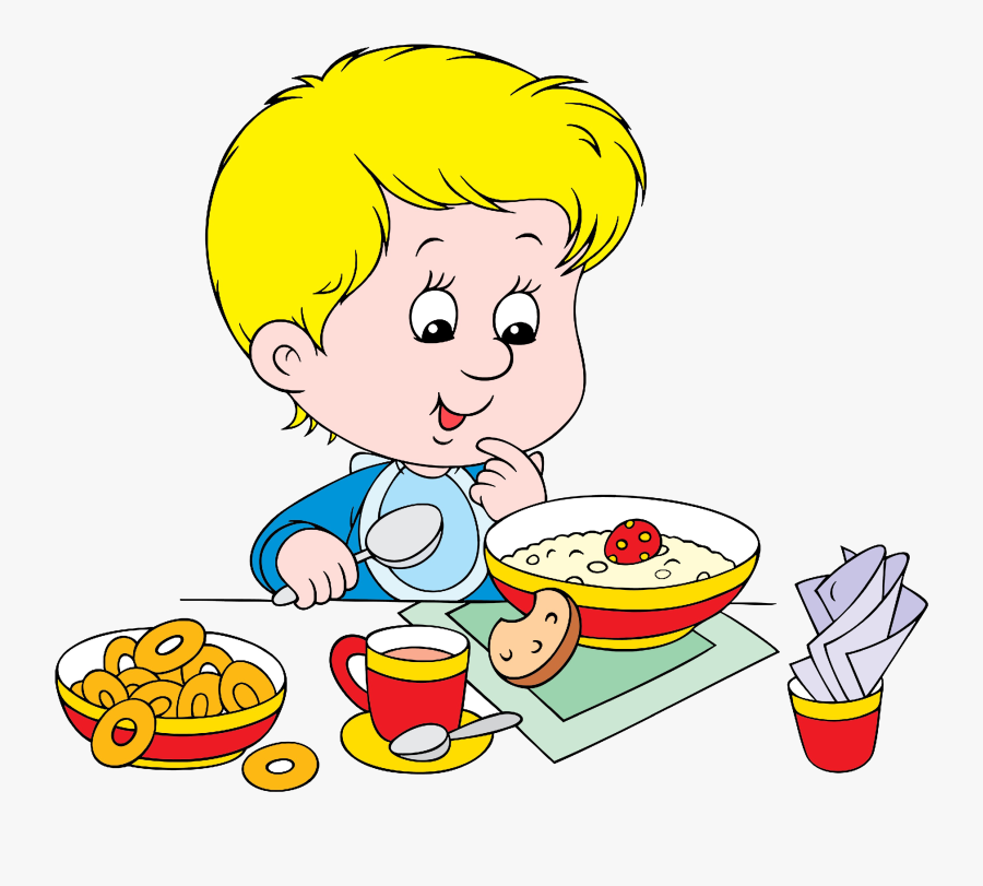 Breakfast Cereal Eating Clip Art.