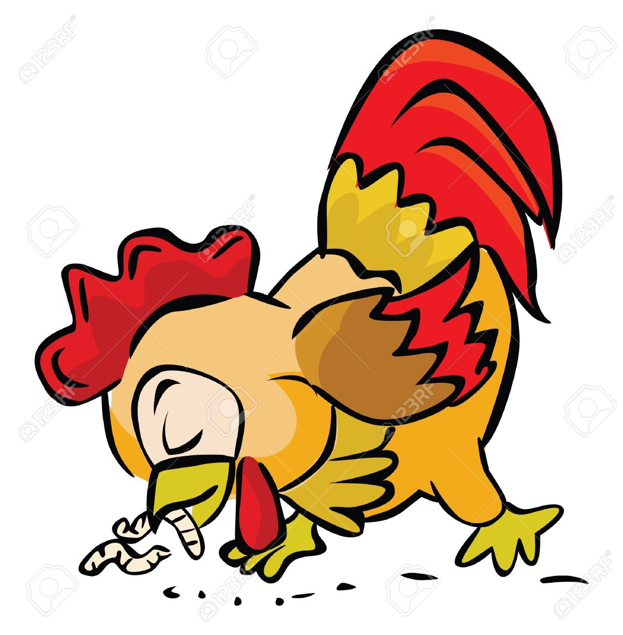 Chicken eating clipart 5 » Clipart Portal.