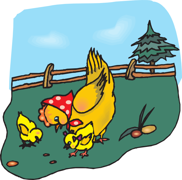 Chickens Eating Clip Art at Clker.com.