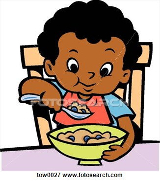 Kids Eating Clipart.