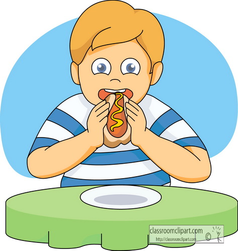 Boy eating clipart » Clipart Station.