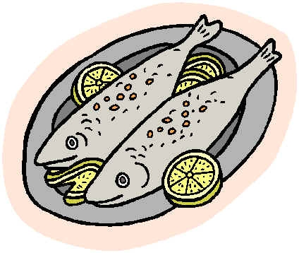 Eating Fish Clipart.