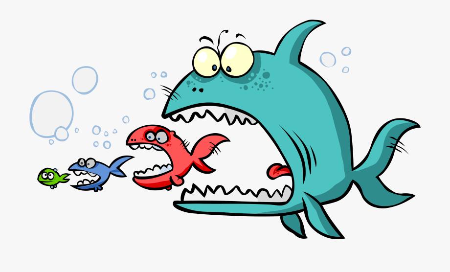 Fish Eating Food Clip Art.