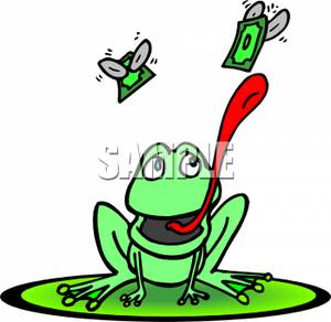 Gallery For > A Frog Eating Fly Clipart.