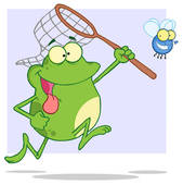 Frog Eating Clipart Tongue Tied Frog Chasing Fly #N92WTy.