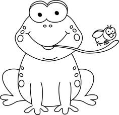 "Frog eating fat fly, funny cartoon illustration."" Stock image and."