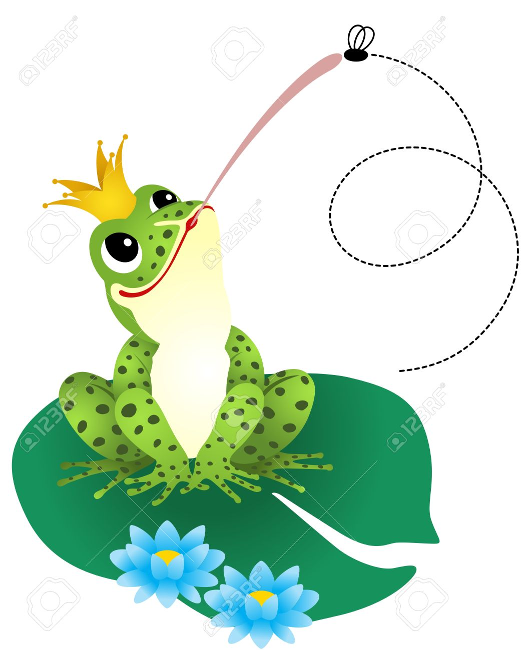 Frog Catching A Fly Royalty Free Cliparts, Vectors, And Stock.