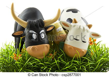 Cow eating grass clipart.