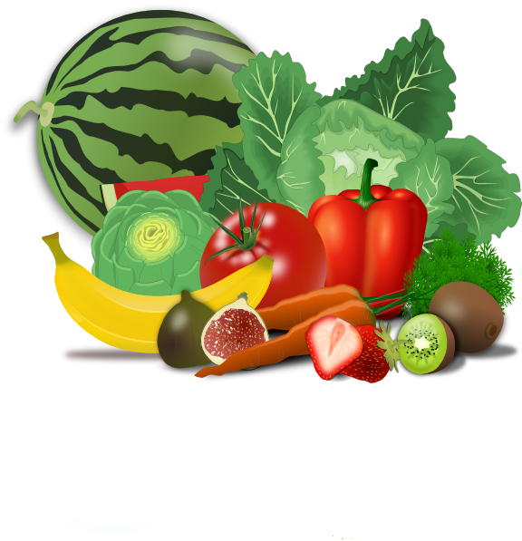 Eating healthy clipart.